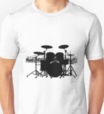 Drums with sheet music (black) T-Shirt