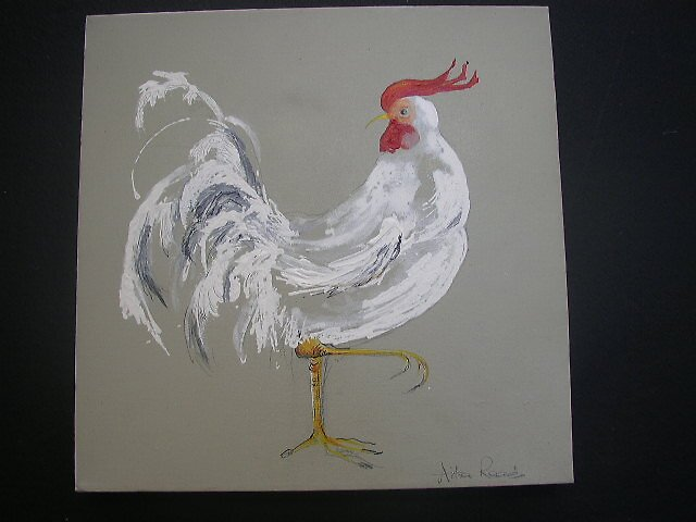 white rooster by readlocations