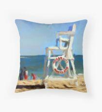 Life  Guard Chair Ocean City  Throw Pillow