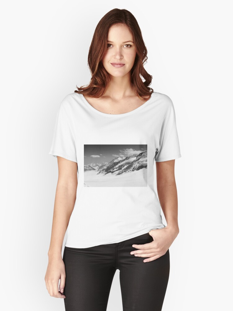 Top of Europe - Black Women's Relaxed Fit T-Shirt Front