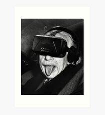 Albert Eintsein VR Art Print