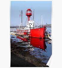 Ballydorn Lightship Red Poster
