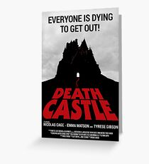 DEATH CASTLE movie poster Greeting Card