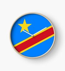 Flag of the Democratic Republic of Congo Clock