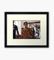 Reflecting on the fight Framed Print