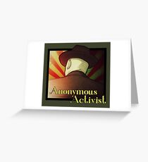 Anonymous Activist 2 Greeting Card