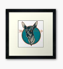 Where Are You Going, Deer? Framed Print