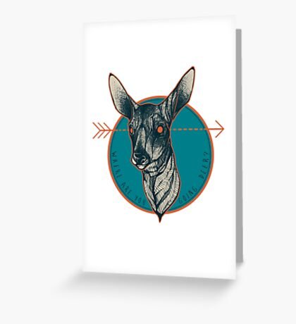 Where Are You Going, Deer? Greeting Card