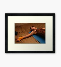 Final Stretch Framed Print