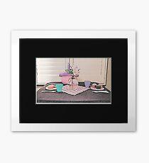 Child's Picnic for Two Framed Print