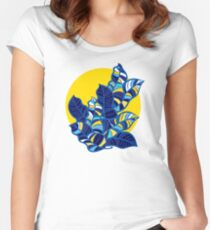 Pop foliage on Yellow Women's Fitted Scoop T-Shirt