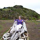 inside jawbone of a whale - at Trial harbour beach, west coast Tasmania by gaylene
