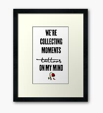 tattoos on my mind // rose collection Framed Print