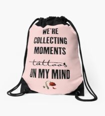 tattoos on my mind // rose collection Drawstring Bag