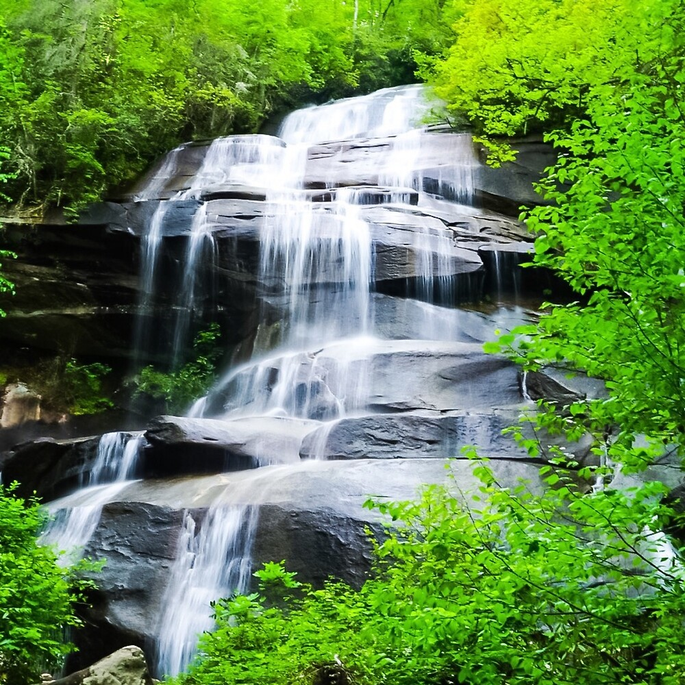 Waterfall Tranquility III: Daniel Ridge Falls, North Carolina by Jacqueline Cooper