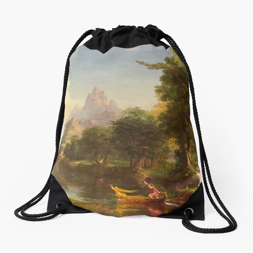 The Voyage of Life Youth Painting by Thomas Cole Drawstring Bag