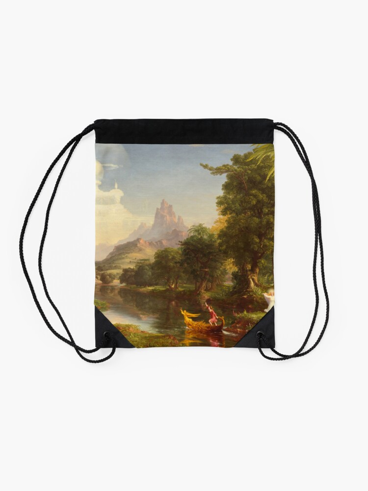 Alternate view of The Voyage of Life Youth Painting by Thomas Cole Drawstring Bag