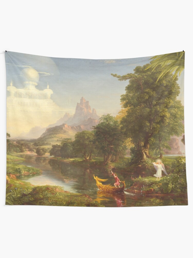 Alternate view of The Voyage of Life Youth Painting by Thomas Cole Tapestry