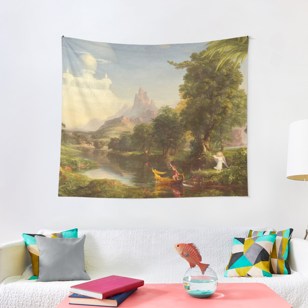 The Voyage of Life Youth Painting by Thomas Cole Tapestry