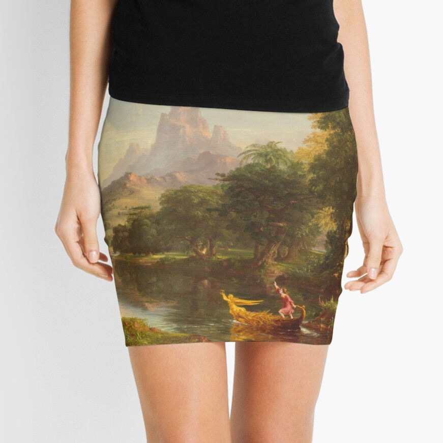 The Voyage of Life Youth Painting by Thomas Cole Mini Skirt
