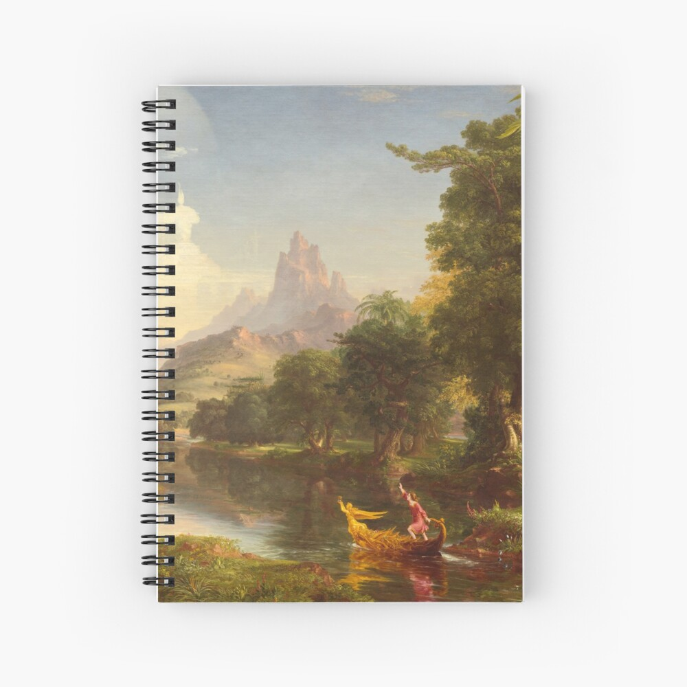 The Voyage of Life Youth Painting by Thomas Cole Spiral Notebook