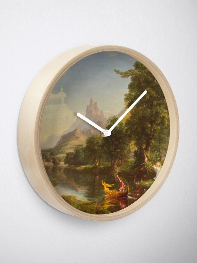 Alternate view of The Voyage of Life Youth Painting by Thomas Cole Clock