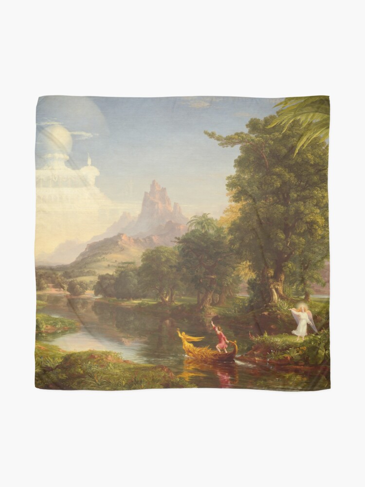 Alternate view of The Voyage of Life Youth Painting by Thomas Cole Scarf