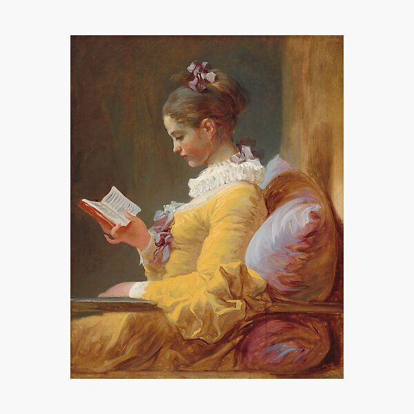Young Girl Reading Painting by Jean-Honoré Fragonard Photographic Print