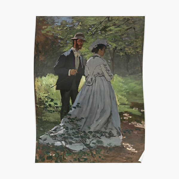 Bazille and Camille Painting by Claude Monet Poster