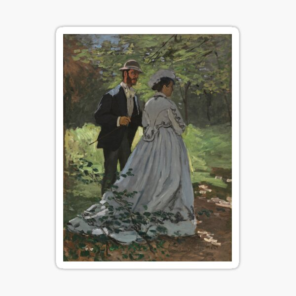 Bazille and Camille Painting by Claude Monet Sticker