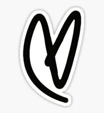 Lovatic Heart - Black Sticker
