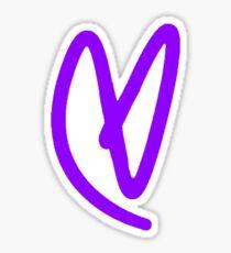 Lovatic Heart - Purple Sticker