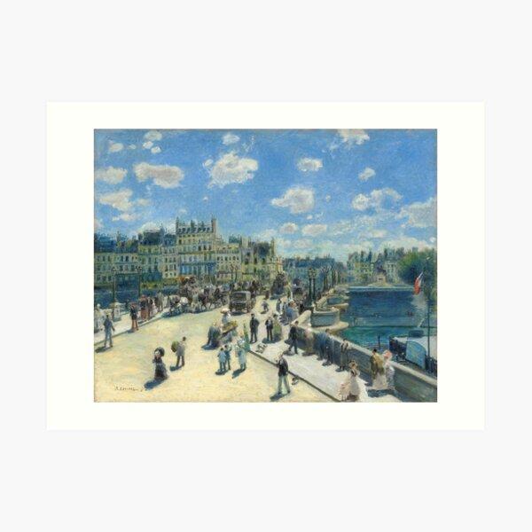 Pont Neuf Paris Painting by Auguste Renoir Art Print