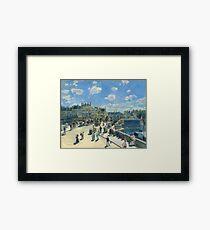 Pont Neuf Paris Painting by Auguste Renoir Framed Print