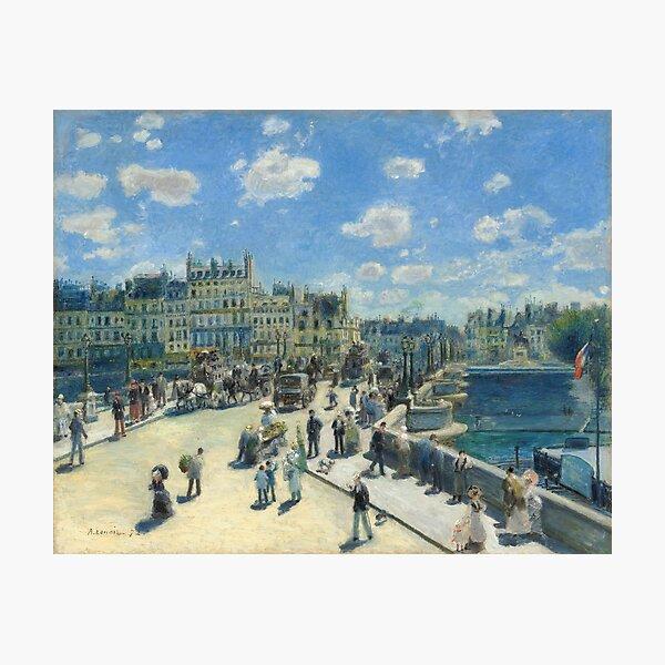 Pont Neuf Paris Painting by Auguste Renoir Photographic Print
