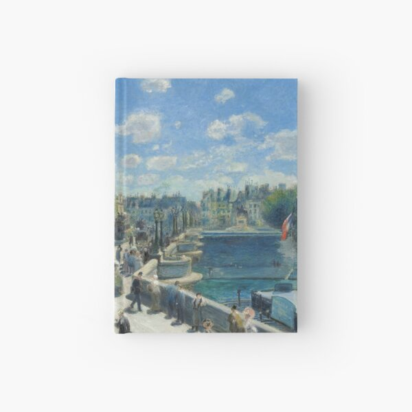 Pont Neuf Paris Painting by Auguste Renoir Hardcover Journal
