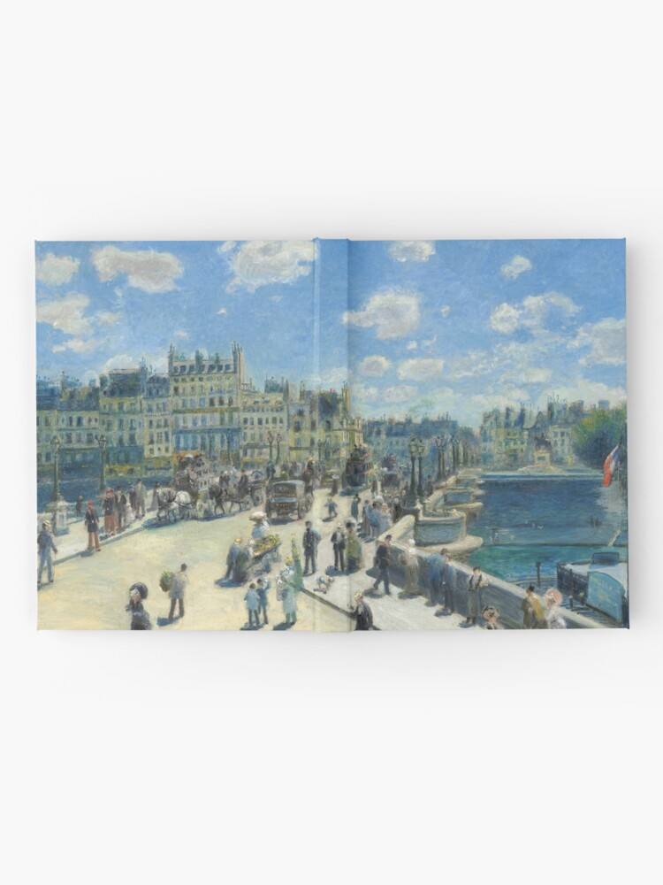 Alternate view of Pont Neuf Paris Painting by Auguste Renoir Hardcover Journal