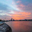 Abu Dhabi Cityscape at sunrise by Viktoryia Vinnikava