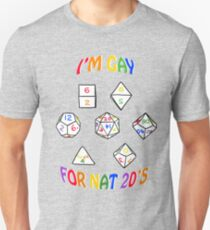 I'm gay for nat 20's T-Shirt