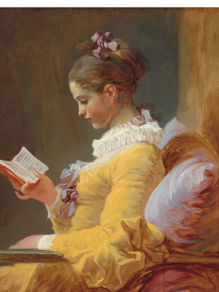 Young Girl Reading Painting by Jean-Honoré Fragonard by podartist