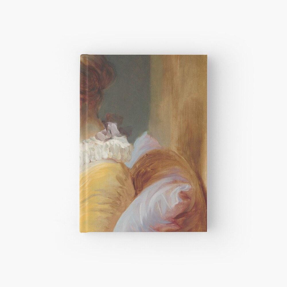 Young Girl Reading Painting by Jean-Honoré Fragonard Hardcover Journal