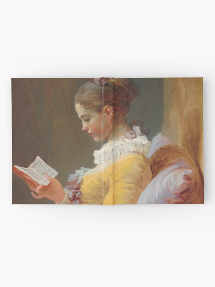 Alternate view of Young Girl Reading Painting by Jean-Honoré Fragonard Hardcover Journal