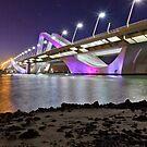 Colourful bridge in Abu Dhabi by Viktoryia Vinnikava