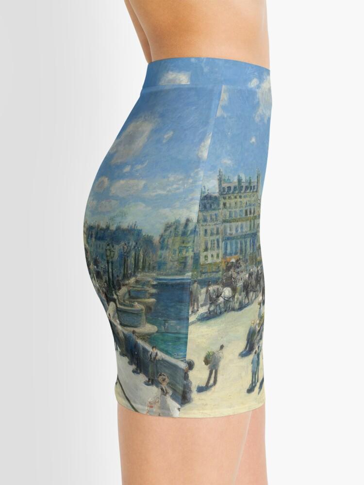 Alternate view of Pont Neuf Paris Painting by Auguste Renoir Mini Skirt