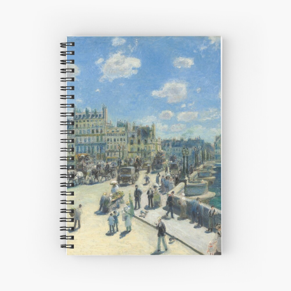 Pont Neuf Paris Painting by Auguste Renoir Spiral Notebook