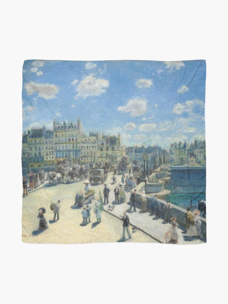 Alternate view of Pont Neuf Paris Painting by Auguste Renoir Scarf