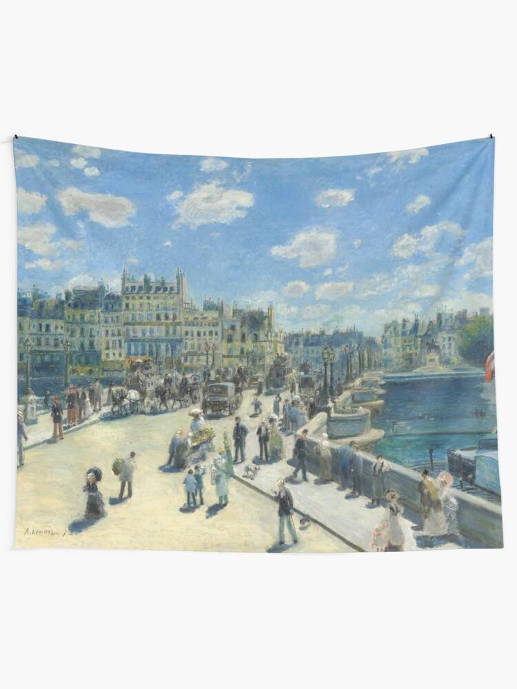 Alternate view of Pont Neuf Paris Painting by Auguste Renoir Tapestry