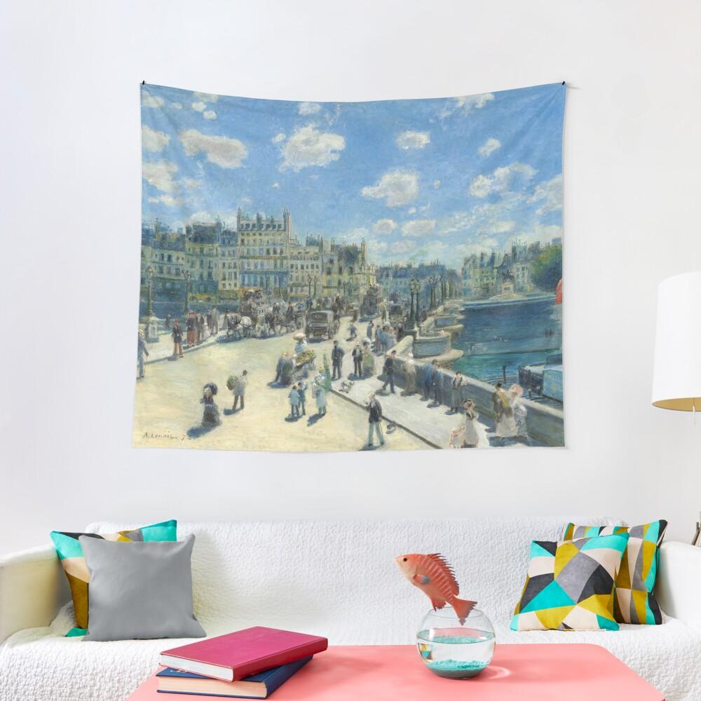 Pont Neuf Paris Painting by Auguste Renoir Tapestry