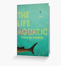 The Life Aquatic Greeting Card