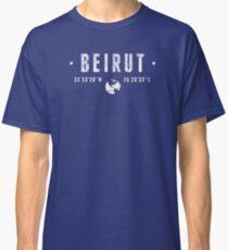 Beirut coordinates Classic T-Shirt